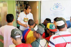 ADRA Volunteer having a mission