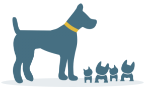 dog with puppies icon