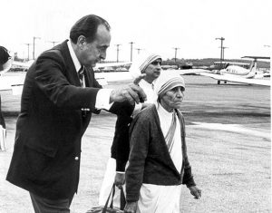 Robert Macaule with mother theresa