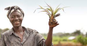 a joyful farmer