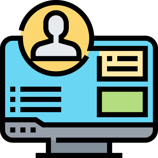 vector icon of an online profile